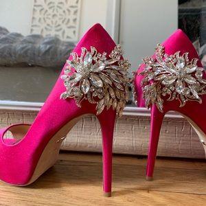 COPY - Badgley Mischka pink gem heels